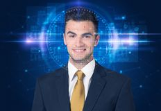 Facial recognition system royalty free stock photos