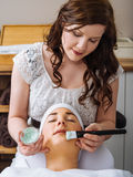 Facial in the salon Stock Photo