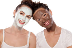 Facial skin care and friendship Stock Images