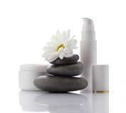 Facial spa-cosmetics products Stock Image