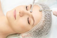 Facial spa cosmetology procedure. Skin care lift anti age.  royalty free stock photos