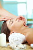 Facial at spa salon Royalty Free Stock Photos