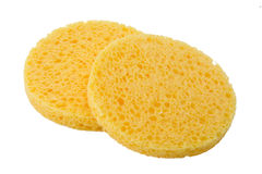 Facial sponge. For washing and cleansing skin Royalty Free Stock Images