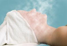 Facial Steam Treatment royalty free stock photo