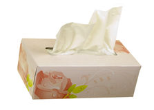 Facial Tissues Angle View Royalty Free Stock Photography