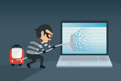 bandit robbery password and data royalty free illustration