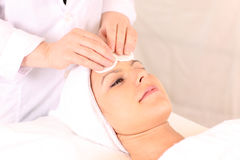 Facial treatment Stock Image