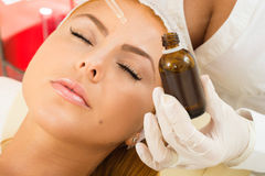 Facial treatment Stock Photo