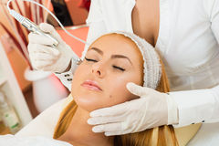 Facial treatment royalty free stock photos