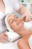 Facial treatment in beauty saloon Stock Image