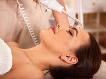 Facial treatment procedures darsenval stock photos