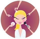 Facial treatment services Royalty Free Stock Photos