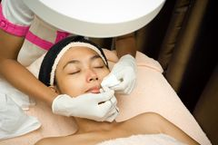 Facial treatment at skincare clinic Royalty Free Stock Photos