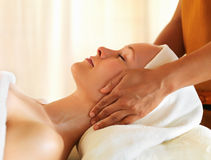 Facial treatment at spa Stock Photography