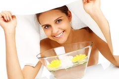 Facial treatment in spa Stock Photography