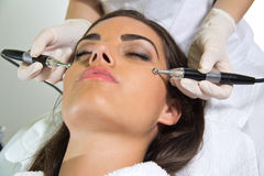 Facial treatment Stock Image