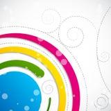 Fond abstrait de Swirly Photos libres de droits