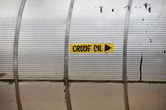 Facilidade da bomba de areias do petróleo fotografia de stock royalty free