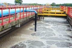 Facilidade da limpeza da água fora imagens de stock