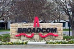 Facilidade de Broadcom em Silicon Valley Foto de Stock Royalty Free