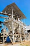 Facilidade de processamento industrial do cimento imagens de stock royalty free