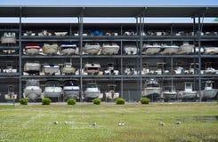 Facilidade do armazenamento do barco Fotos de Stock