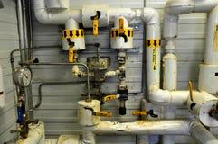 Facilidades da bomba de areias do petróleo imagens de stock