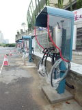 Facilidades de carregamento do veículo elétrico Fotografia de Stock Royalty Free