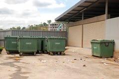Facilidades para a vizinhança: coleção de resíduos sólidos Fotos de Stock Royalty Free