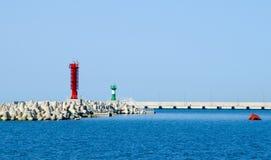Faciliteiten in de haven Stock Fotografie