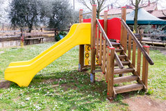 Facilities for children in a playground. Royalty Free Stock Photography
