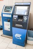 Russia, Murmansk-03 July 2018: ATM of VTB Bank and KIWI payment machine royalty free stock photo
