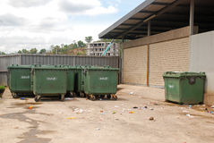 Facilities for the neighborhood: solid waste collection Royalty Free Stock Photos