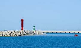 Facilities in the port. Special structures in the sea port Stock Photography
