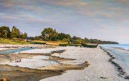 Facilities of village of fishermen Stock Image