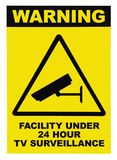 Facility protected by video surveillance text sign Stock Images