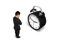 Facing alarm clock Royalty Free Stock Photography