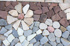 Facing brick travertine marble.  Royalty Free Stock Photos