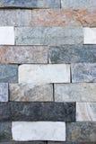 Facing brick travertine marble. Facing brick travertine colored marble Stock Photo