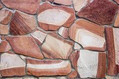 Facing brick travertine marble. Facing brick travertine red marble Royalty Free Stock Photos