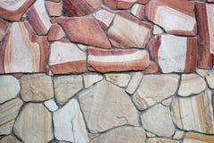Facing brick travertine marble. Facing brick travertine red marble Stock Photo
