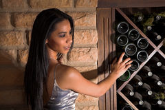 Facing the cellar stone wall Stock Photography