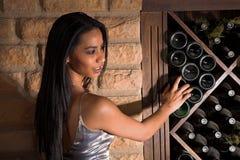 Facing the cellar stone wall Stock Photography