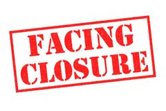 FACING CLOSURE Rubber Stamp. FACING CLOSURE red Rubber Stamp over a white background Royalty Free Stock Image