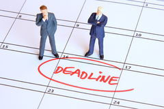 Facing a deadline Stock Photo