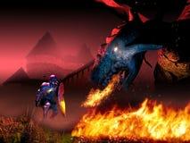 Facing the Dragon Royalty Free Stock Image
