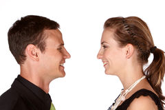 Facing each other Royalty Free Stock Image
