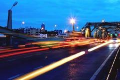 Facing the evening Bangkok Bridge Royalty Free Stock Photography
