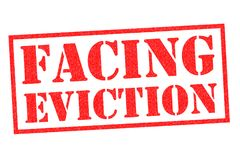 FACING EVICTION Rubber Stamp. FACING EVICTION red Rubber Stamp over a white background Royalty Free Stock Image