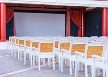 Facing a number of seats in the concert hall in the open air Royalty Free Stock Photography